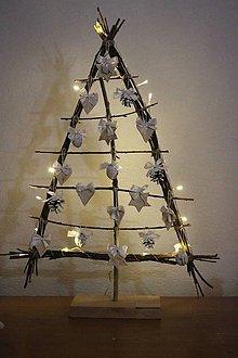 Dekorácie - vianočný stromček natur biely - 10246650_