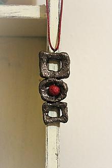 """Náhrdelníky - náhrdelník """"3+1červená"""" - 10246683_"""