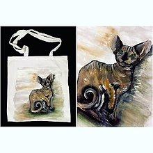 Nákupné tašky - Maľovaná taška - 10246811_