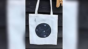 Iné tašky - ♥ Plátená, ručne maľovaná taška ♥ - 10246730_