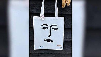 Iné tašky - ♥ Plátená, ručne maľovaná taška ♥ - 10246747_
