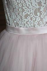 Sukne - Tylová kvalitná nazbieraná sukňa rôzne farby - 10245914_
