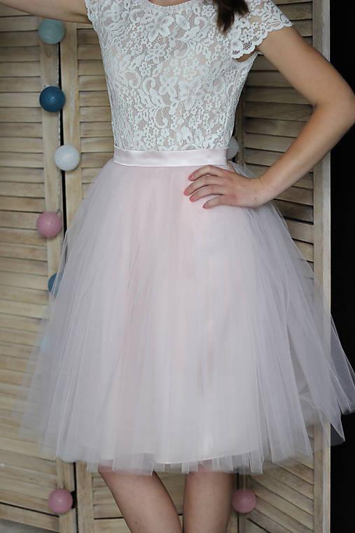 Tylová kvalitná nazbieraná sukňa rôzne farby