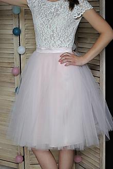 Sukne - Tylová kvalitná nazbieraná sukňa rôzne farby - 10245915_