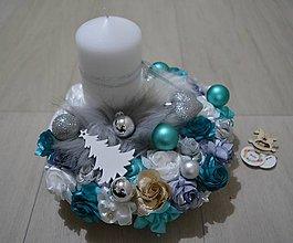 Dekorácie - Vianočná ikebana v tyrysovej - 10246632_