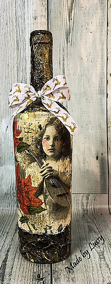 Dekorácie - Dekoračná fľaša - 10246484_