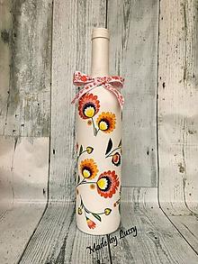 Dekorácie - Dekoračná fľaša - 10246495_