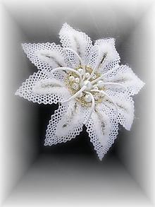 Ozdoby do vlasov - Sněhový květ - 10245710_