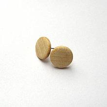 Náušnice - Javor horský - krúžky - 10245929_