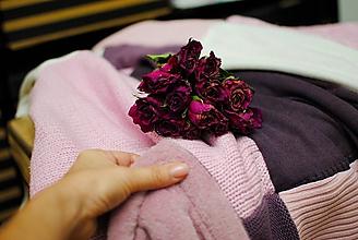 Úžitkový textil - Staroružová - 10246395_