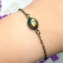 Náramky - Bronze Vintage Labradorite Bracelet / Vintage náramok s labradoritom v bronzovom prevedení /1353 - 10249042_