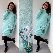 Šaty - Mentolka na zimné dni... - 10249538_