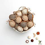 Dekorácie - Obrovské orechy (100% biobavlna, 10 ks) - 10246998_