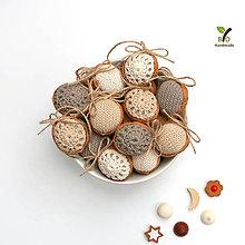 Dekorácie - Obrovské orechy (100% biobavlna, 10 ks) - 10247002_