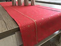 Úžitkový textil - Zlato červená štóla 140 x 40 cm  - 10249426_
