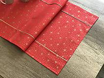 Úžitkový textil - Zlato červená štóla 140 x 40 cm  - 10249427_