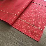 Úžitkový textil - Zlato červená štóla 140 x 40 cm  - 10249430_