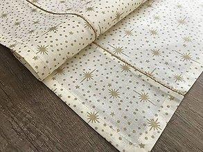 Úžitkový textil - Zlato - strieborné štóly 140 x 40 cm - 10249359_