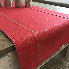 Úžitkový textil - Zlato červená štóla 140 x 40 cm - 10249425_