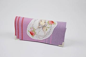 Peňaženky - Priehradková peňaženka zo šatky  Little Frog Sunny Agate s panelom Mirabelle I. - 10247048_