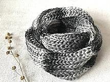 Šály - Nákrčník sivo-čierny melír - 10249206_