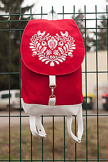 Batohy - Ruksak Red & White - 10247895_