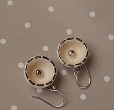 Náušnice - Keramické náušnice s platinou - Satelity - 10249296_