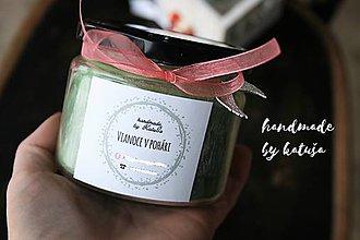 Darčeky pre svadobčanov - handmade sviečka višňa v marcipáne (210) - 10248677_