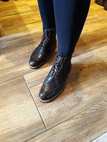 Obuv - Dámské topánky hand made z kože - 10247629_