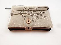 - Zápisník s obalom - Zasnežený strom - 10247947_