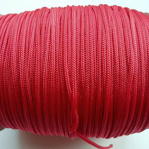 Šnúra PES 1,4mm-červená-1m
