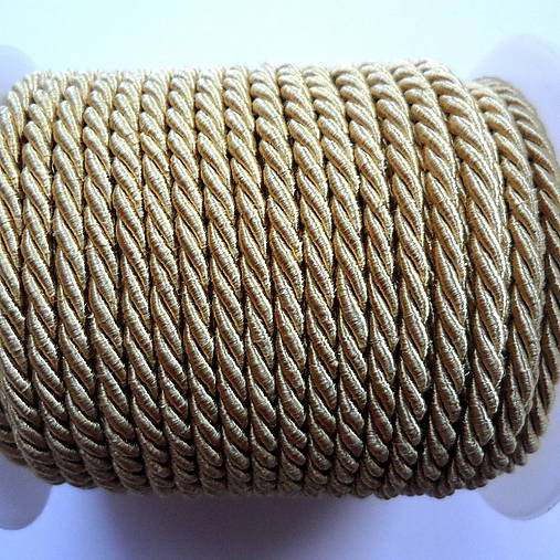 Šnúra točená 3mm-1m (zlatá)
