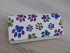 Peňaženky - Peňaženka na 12 kariet,koženka, bavlna - 10247371_