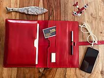 Na tablet - Kožený obal na tablet, diár, vizitky a pera - 10249307_