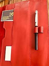 Na tablet - Kožený obal na tablet, diár, vizitky a pera - 10249310_