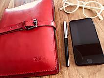 Na tablet - Kožený obal na tablet, diár, vizitky a pera - 10249311_