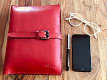 Na tablet - Kožený obal na tablet, diár, vizitky a pera - 10249313_