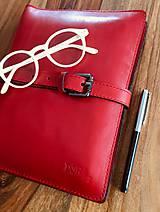 Na tablet - Kožený obal na tablet, diár, vizitky a pera - 10249314_