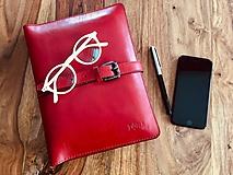 Na tablet - Kožený obal na tablet, diár, vizitky a pera - 10249315_