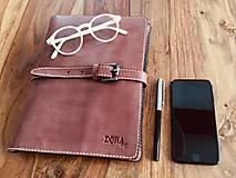 Na tablet - Kožený obal na tablet, diár alebo vizitky a perá - 10249324_