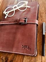 Na tablet - Kožený obal na tablet, diár alebo vizitky a perá - 10249326_