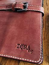 Na tablet - Kožený obal na tablet, diár alebo vizitky a perá - 10249327_