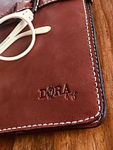 Na tablet - Kožený obal na tablet, diár alebo vizitky a perá - 10249334_