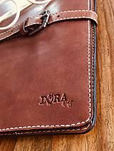 Na notebook - Kožený obal na MacBook Air 13, dokumenty veľkosti A4, vizitky a perá - 10249386_