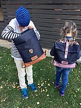 Batohy - Riflový ruksak s koženými detailami - 10249474_