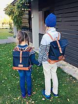 Batohy - Riflový ruksak s koženými detailami - 10249475_