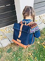 Batohy - Riflový ruksak s koženými detailami - 10249476_