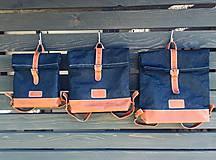 Batohy - Riflový ruksak s koženými detailami - 10249482_