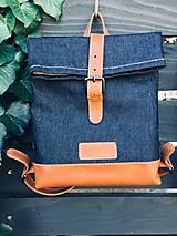 Batohy - Riflový ruksak s koženými detailami - 10249485_