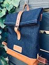 Batohy - Riflový ruksak s koženými detailami - 10249488_